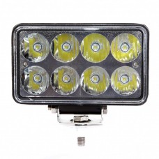 Quake LED Tempest Series Headlight - 7 Inch 24 Watt - Spot