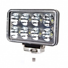 Quake LED Tempest Series Headlight - 7 Inch 24 Watt - Flood